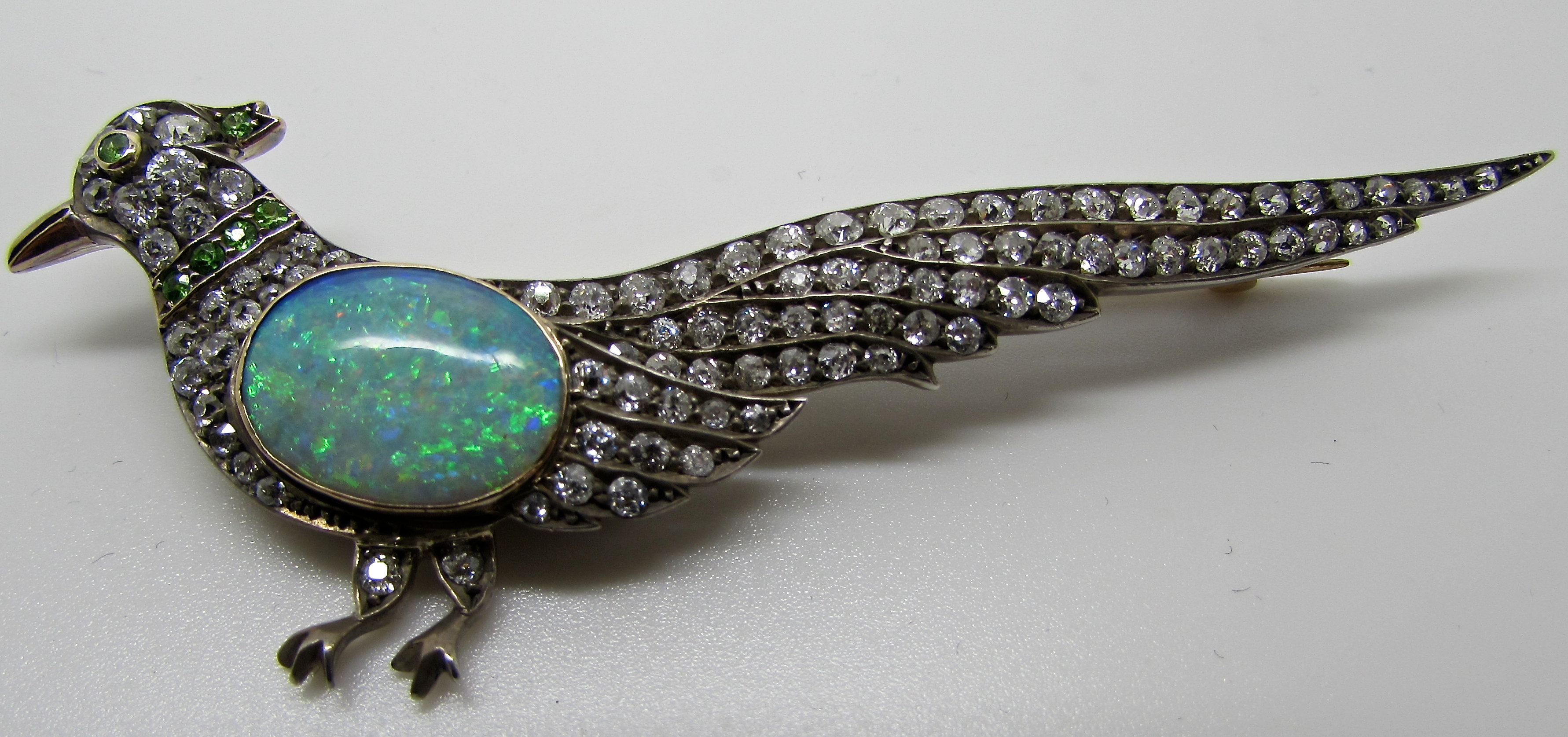 owned pre austrian brooch product vintage opal diamond